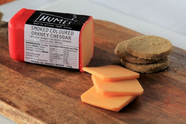 Smoked Orkney Mature Coloured Cheddar 175g
