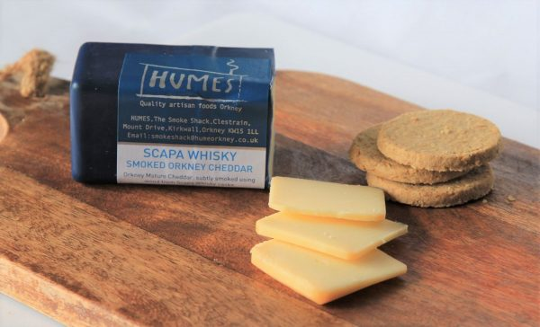 Scapa Whisky Cask Smoked Mature Orkney Cheddar 175g