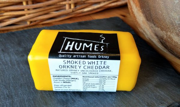 Smoked Orkney Mature Uncoloured Cheddar 175g